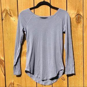 Lululemon gray long sleeve love scoop t-shirt GUC